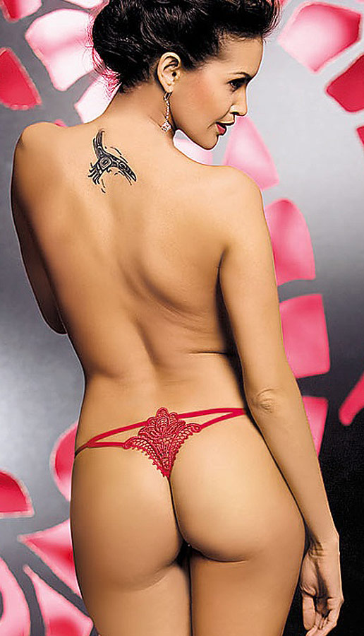 Luiza thong red.